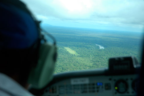 Approaching the Karawari Airstrip