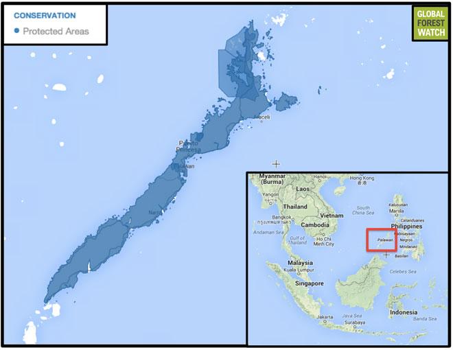 Palawan-protected-areas-map